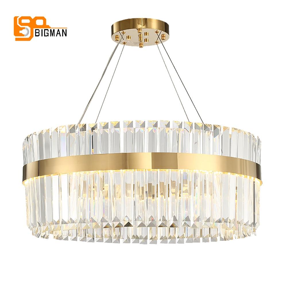 Us 647 92 11 Off Man 2 Layers Crystal Chandelier Modern Lighting Ac110v 220v Re Led Kronleuchter Home Decoration Gold In