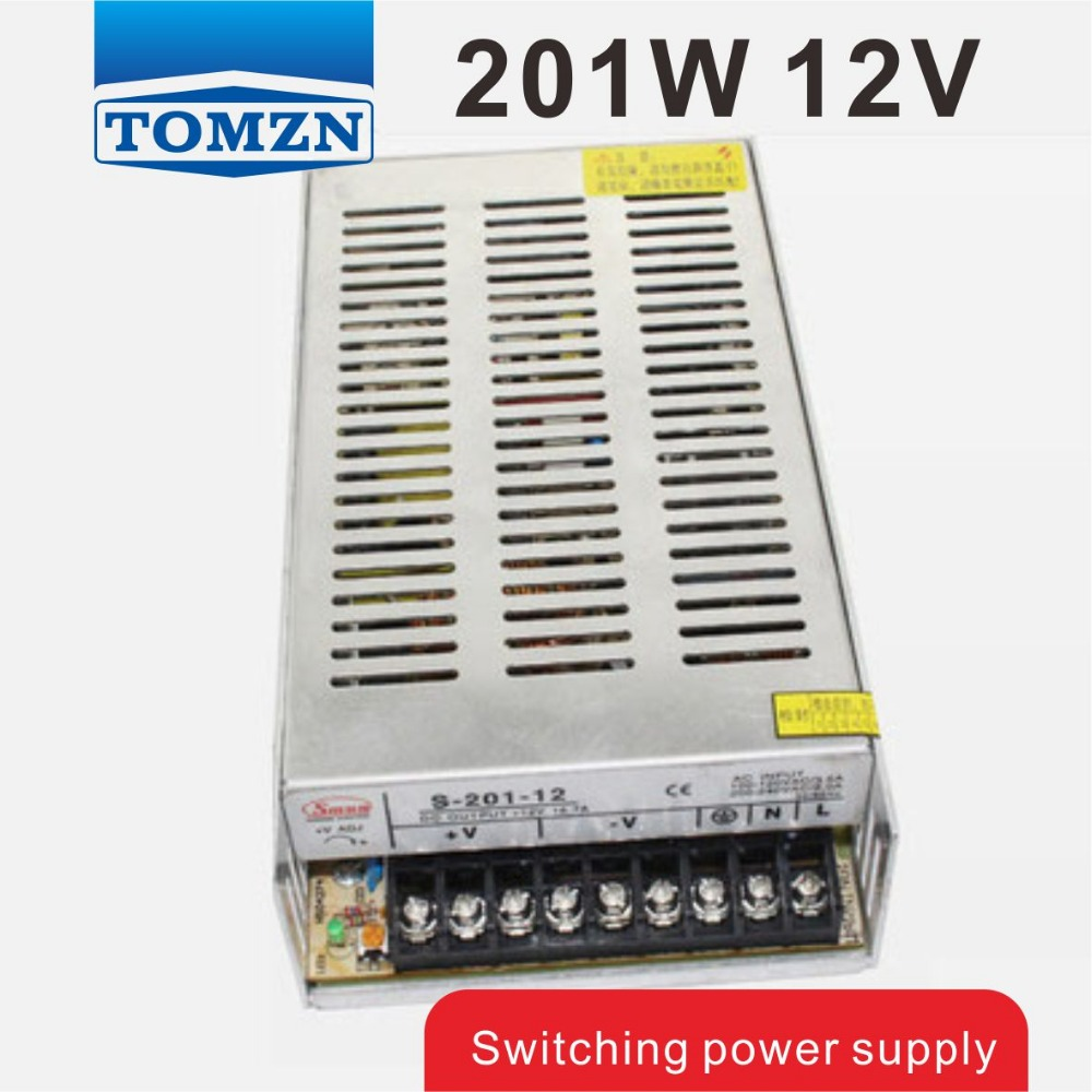201W 12V 16.5A Single Output Switching power supply for LED Strip light AC to DC 201w led switching power supply 85 265ac input 40a 16 5a 8 3a 4 2a for led strip light power suply 5v 12v output