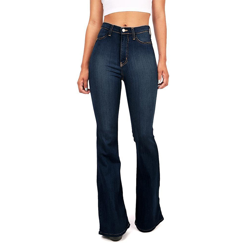 19439e9561 blue Estilo Mujer Cintura Retro Black Skinny 2019 Casual De Sexy Pierna  Pantalones Alta Elegante Inferior Campana Vaqueros ...