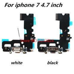 Oryginalny port ładowania USB dock + mikrofon Flex cable dla iphone 7/7G 4.7 cala wtyczka USB złącze ładowarki części zamienne