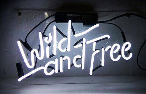 Wild and Free Glass Neon Light Sign Beer BarWild and Free Glass Neon Light Sign Beer Bar