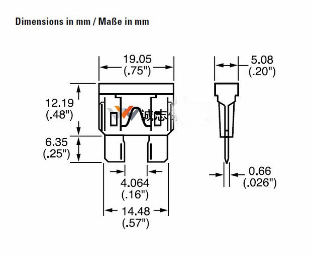 Free shipping 10PC littelfuse fuse 257 series for old Octavia etc 32VDC 15A car fuse kit Flat angle