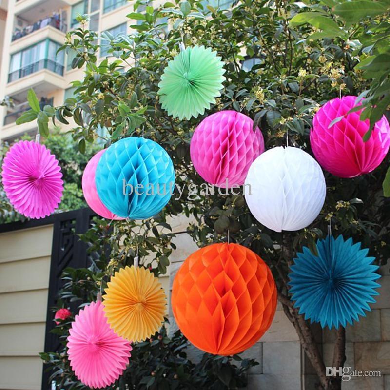 50 sztuk / partia 30 cm Średnica DIY Paper Honeycomb Flower Ball - Materiały świąteczne