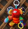 Hot sale super cute - red small elephant rattle baby carriage bed hanging soothing plush toys