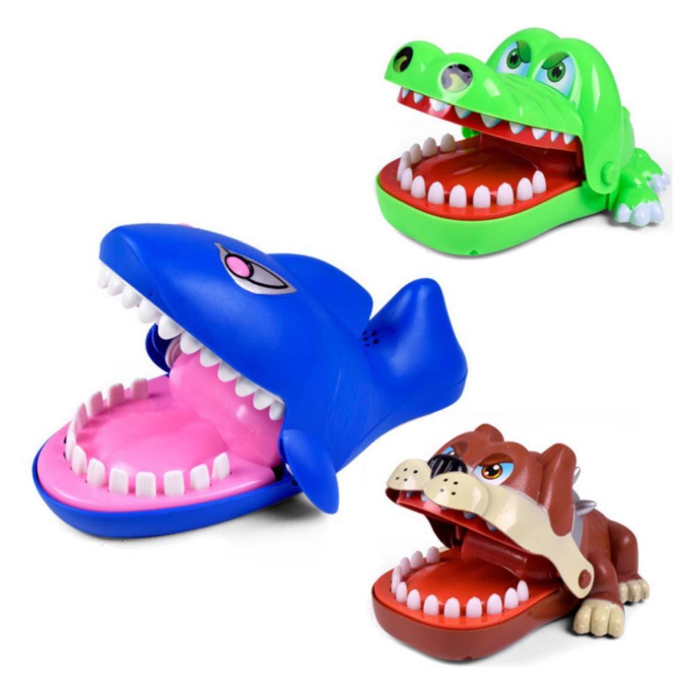 Kids Boy Children Cute Crocodile Shark Mouth Dentist Bite Finger Game Funny Toys