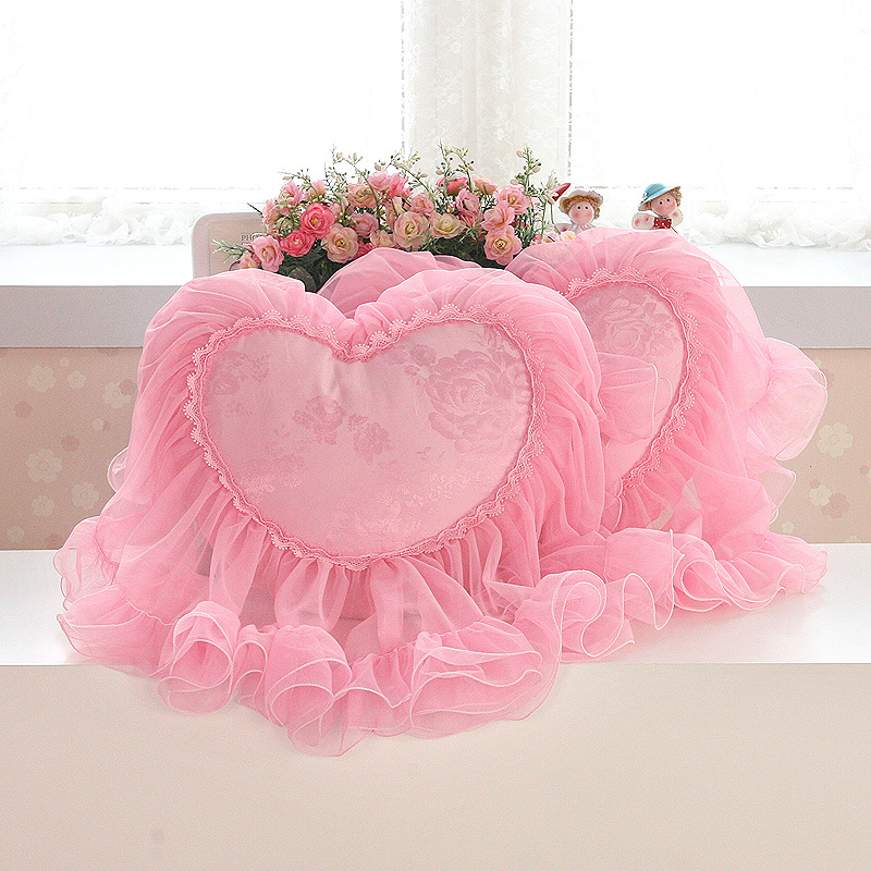 Luxury Chair Cushion Cookie Decorative Throw Pillows Decorate Home Decor Pillow Decoration Sofa Bedding Set Pink Lace Christmas