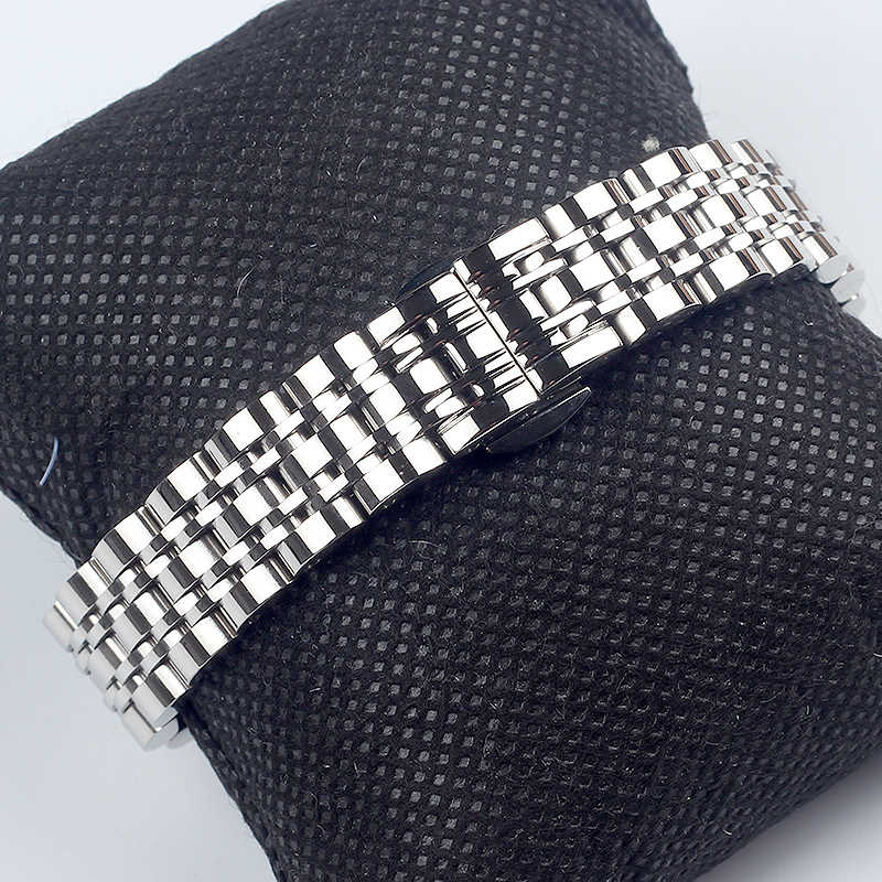 14 Mm 16 Mm 18 Mm 20 Mm 22 Mm 24 Stainless Steel Watchbands untuk Arman Aku Watch Band AR AR1676 AR1682 Pria Jam Tangan Wanita Tali Gelang