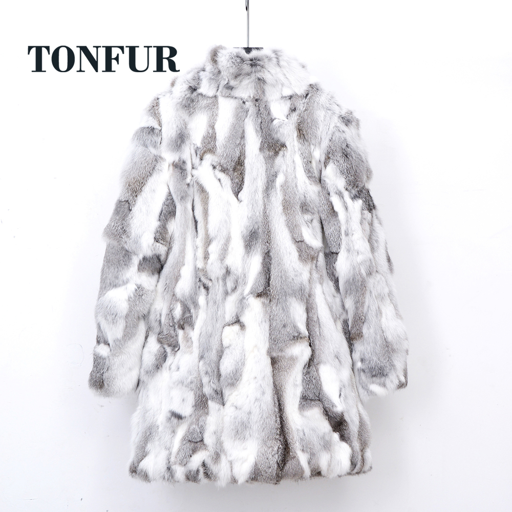 Thick Warm Classical Customize Made Plus Size Real Whole Skin Real Genuine Rabbit Fur Coat Female Mandarin Collar Jacket TSR257
