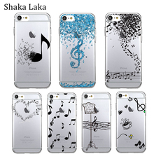 Fashion Cartoon Musical Case for Iphone X XS MAX XR iPhone 7 8 6 6S Plus 5 5S SE Transparent Soft TPU Phone Logo