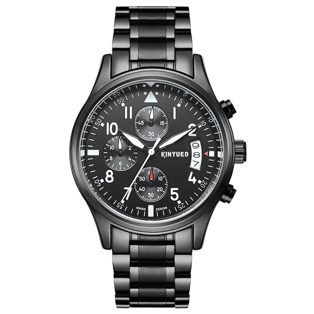 Marca de lujo KINYUED Relojes para hombres, Multifuncional Movimiento - Relojes para hombres - foto 3