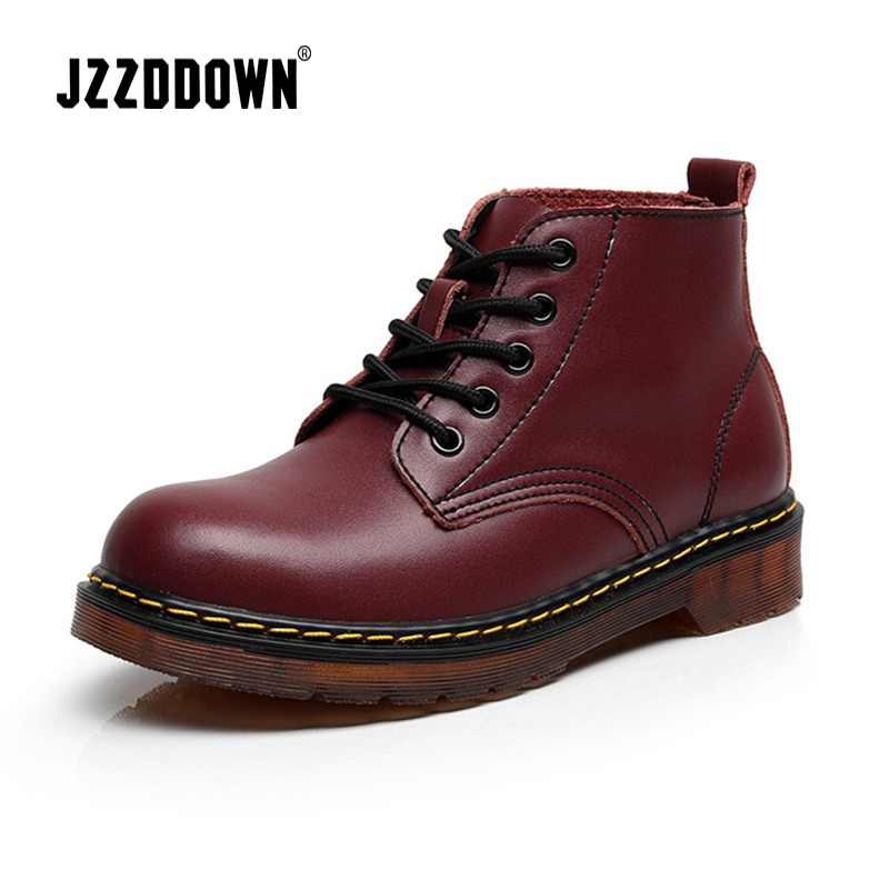 Women boots genuine leather Plus Size Couples ankle boots for women suede ladies boots for winter martin shoes female booties women martin boots 2017 autumn winter punk style shoes female genuine leather rivet retro black buckle motorcycle ankle booties