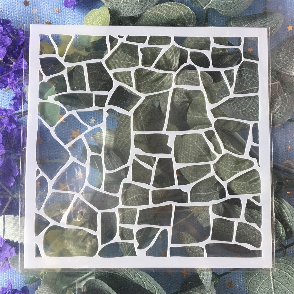 New 13cm Geometry Grid DIY Craft Layering Stencils Wall Painting Scrapbooking Stamping Embossing Album Card Template