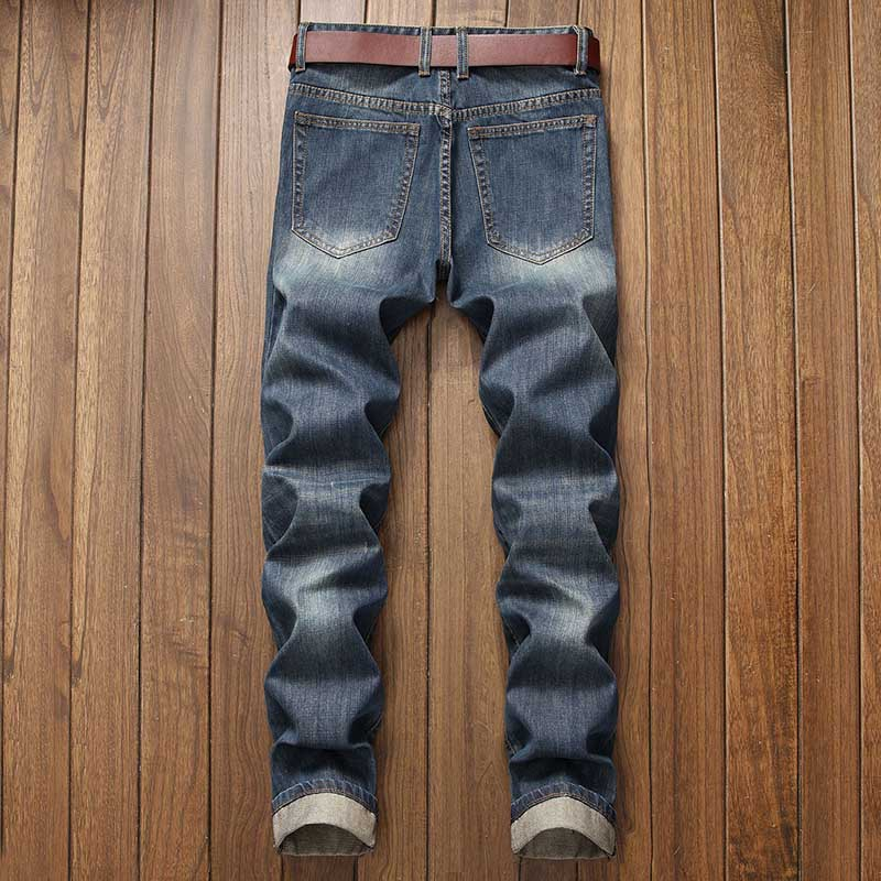Mcikkny Men\`s Ripped Distressed Jeans Pants Washed Fashion Pleated Casual Denim Trousers Male Streetwear (10)