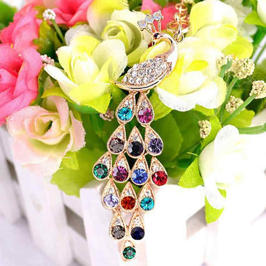 Fashion Jewelry Peacock Long Necklace Pendant Link Chain Sweater Necklace Gifts Choker Jewelry Accessories Pendientes Torque