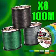 super japan fishing pe line store 8strands 100M braided fishing wires ocean fishing accessories strong lb for fishing 6-300LB