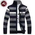 2017 new arrival Men's winter coat jacket knit Striped cardigan sweater male fashion casual warm thick plus size M L XL 2XL 3XL
