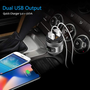 Image 2 - C57 Dual USB Ports Quick charge 3.0 Car Charger Bluetooth FM Transmitter Car Kit MP3 Music Player Wireless FM Radio Adapter