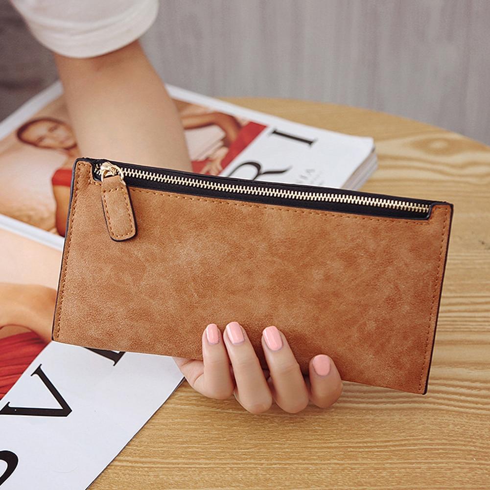 NEW Fashion Wallet Women Zipper PU Leather Clutch Coin Bag Long Purse Wallet Lady Multi-Function Phone Bag