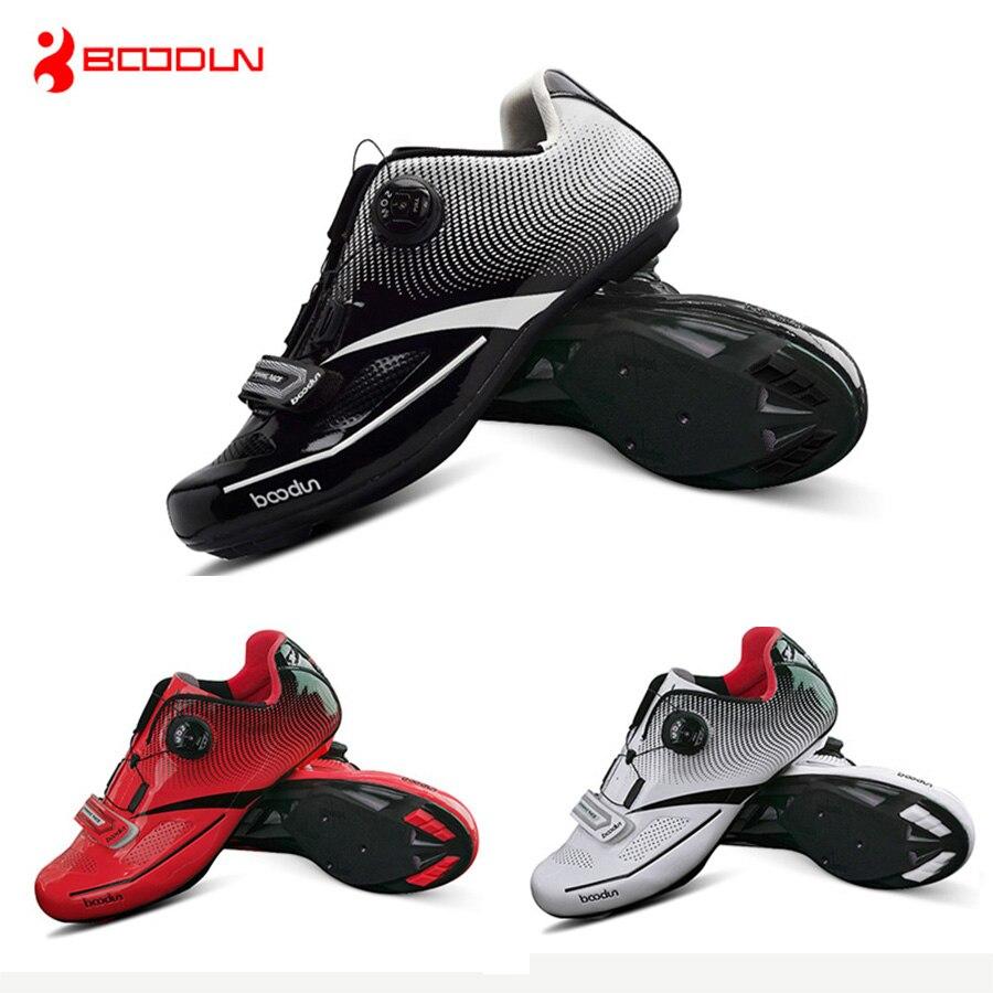 Boodun Breathable Pro Self Locking Cycling Shoes Road Bike Shoes mountain bike shoes Ultralight Athletic Racing