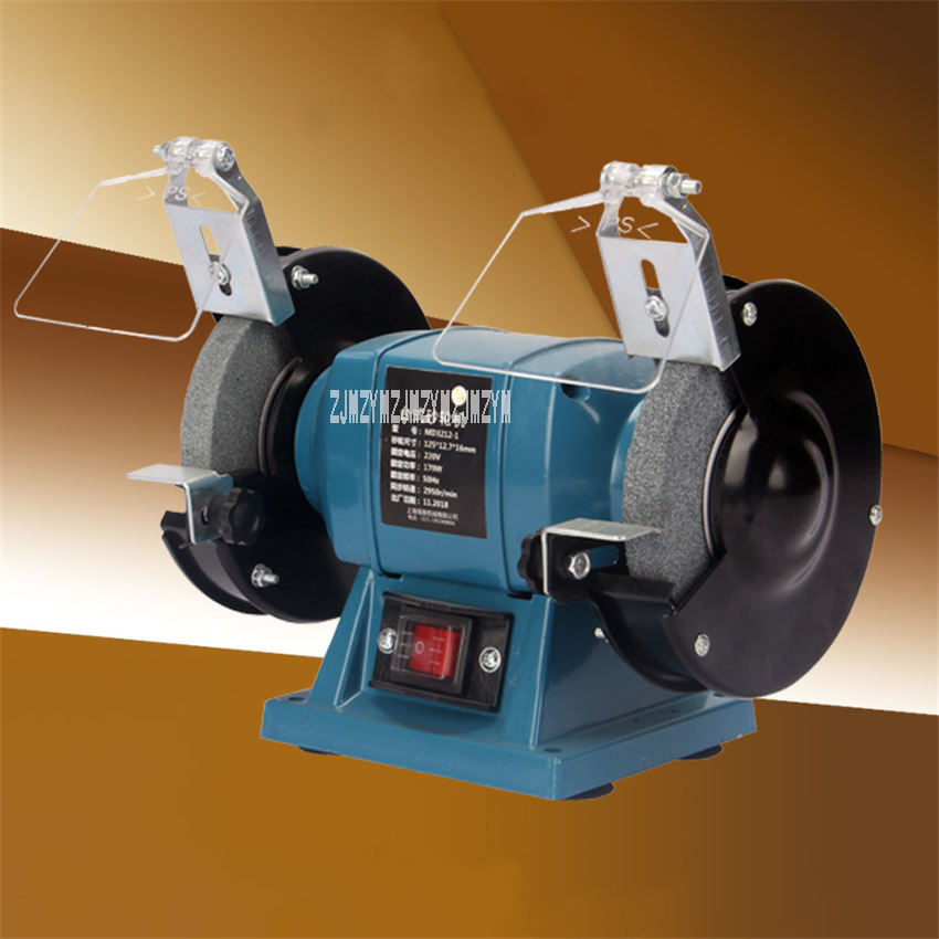 MD3212-1 5-inch 6-inchMulti-Functional Bench Grinder Rotary Grinder Polishing Machine 2956r/min Desktop Grinding Machine 220V