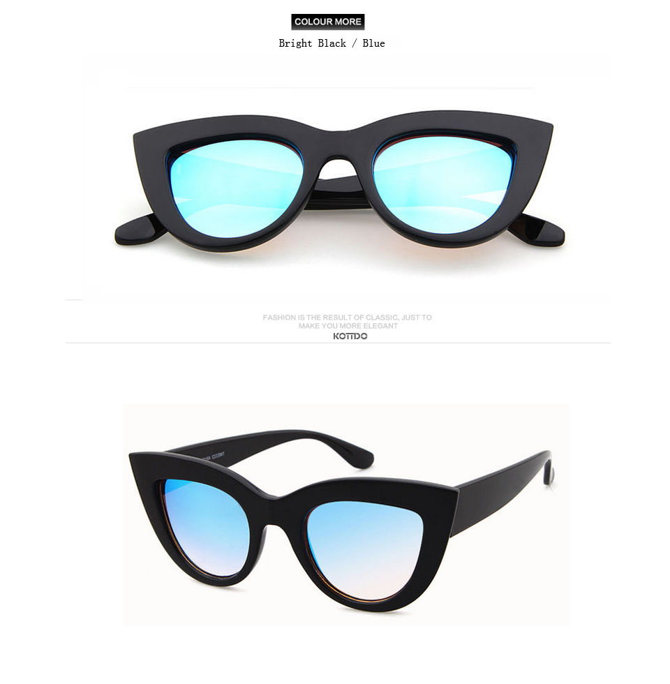 HTB1EZhicgAq0eJjSZFtq6A.qVXaD - Rose Gold Cat Eye Sunglasses For Women Pink Mirror Shades Female Sun Glasses Black White Coating Cateye Aviation Oculos 2018