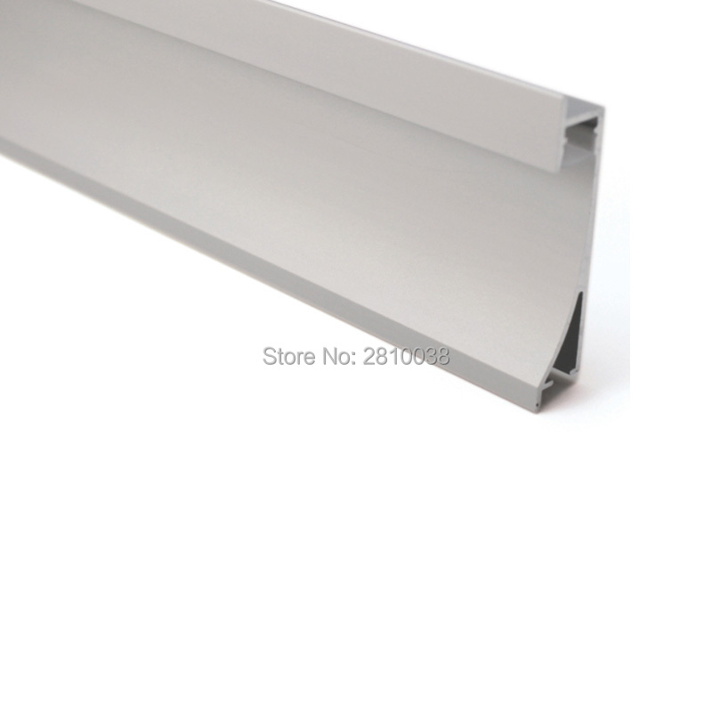 10 X 1M Sets/Lot Anodized aluminium profile for led lighting and aluminium led strip housing for recessed wall lights