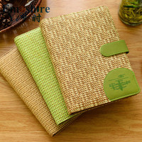 Creative Retro Straw MB Notebook High end Hardcover Brand Notebook Business Diary Stationery Wholesale Custom Business Gift N184