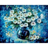 Daisy Flower Wall DIY Painting By Numbers Digital Canvas Oil Painting Frameless And Frame Pictures Home