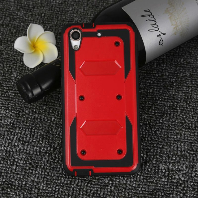 3 in 1 Hybrid Silicon Armor Case For HTC Desire 626 626G 626S 626W Heavy Duty Shockproof Dual Layer Rugged Armor Back Cover Case