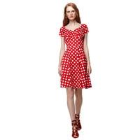 Women Dresses Short Sleeve 50s Rockabilly Dress Casual Polka Dot Swing Vintage Dresses