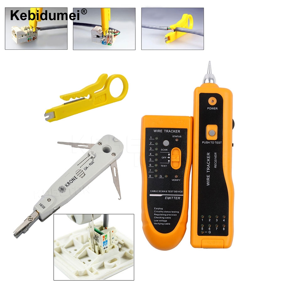 netzwerk ethernet kabel tester rj45 kit crimper crimpen werkzeug