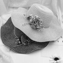 New Fashion Design Summer Foldable Baby Flower Breathable Hat Straw Sun Kids Boy Girls Hats Cute High Quality