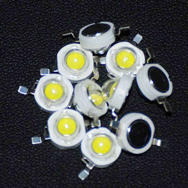 Spirited 10pcs Led 3 W Diode High Power Beads 3watt White Light Emitting Diode Brightness White Diodos Led Alta Luminosidad 3w Diodo Diy A Great Variety Of Goods Active Components