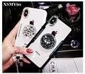 XSMYiss новые модели чехол для iPhone X 6 6 S 7 8 плюс мода Bling Алмазный кронштейн прозрачный кант анти-осень чехол для телефона - фото
