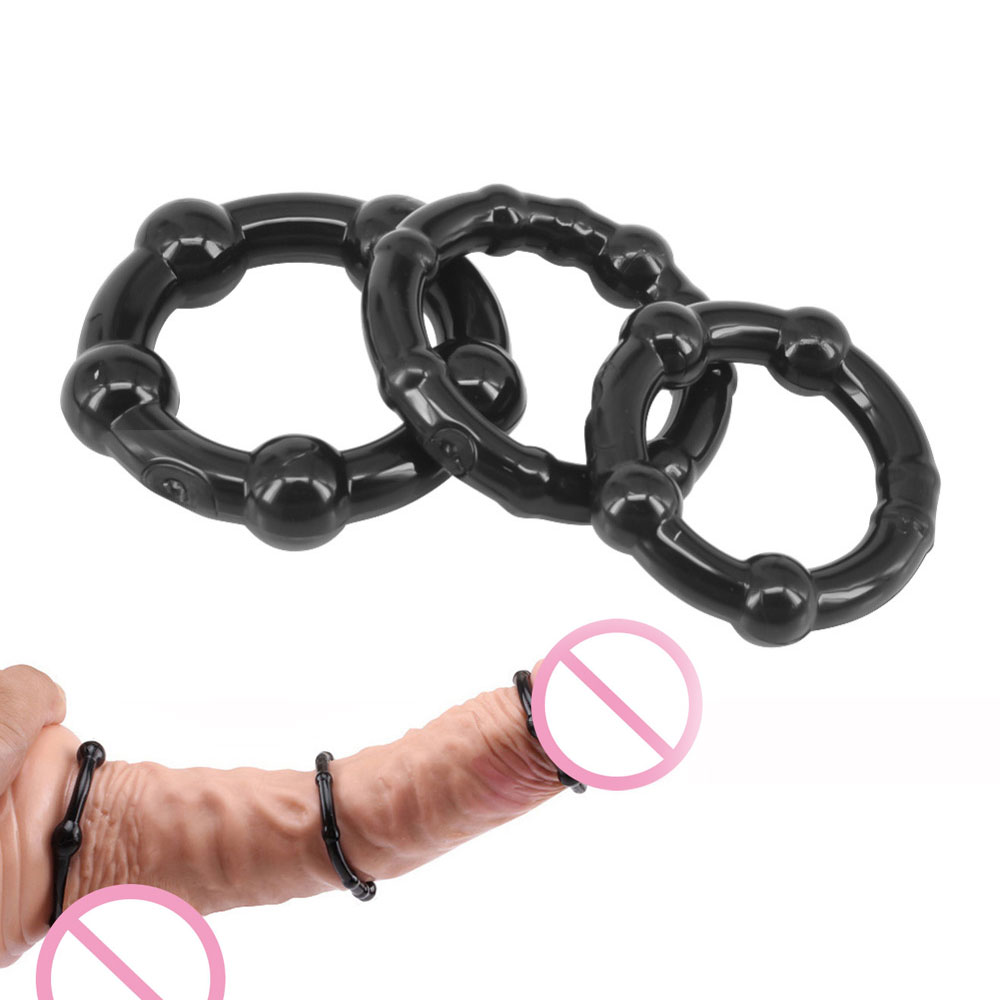 3 Colors Penis Ring Delaying Ejaculation Silicone Cock Rings Multi-color Small Sex Toys for Couples Lock Ejaculation Sex Rings