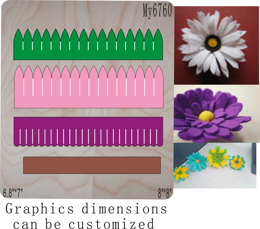 Silk flower muyu cutting die new wooden mould cutting dies for scrapbooking Thickness 15 8mm