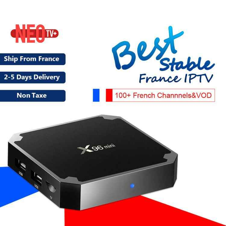 Mejor caja de TV IPTV francesa X96 mini Android 9,0 TV Box con 1200 + 1 año Europa Francia África árabe marroquí fútbol Smart IP TV Box