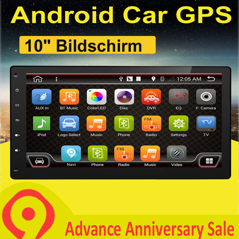 Quad 4 Core 2 Din Android 7 1 Car Radio DVD Player 10 1 Inch 1024