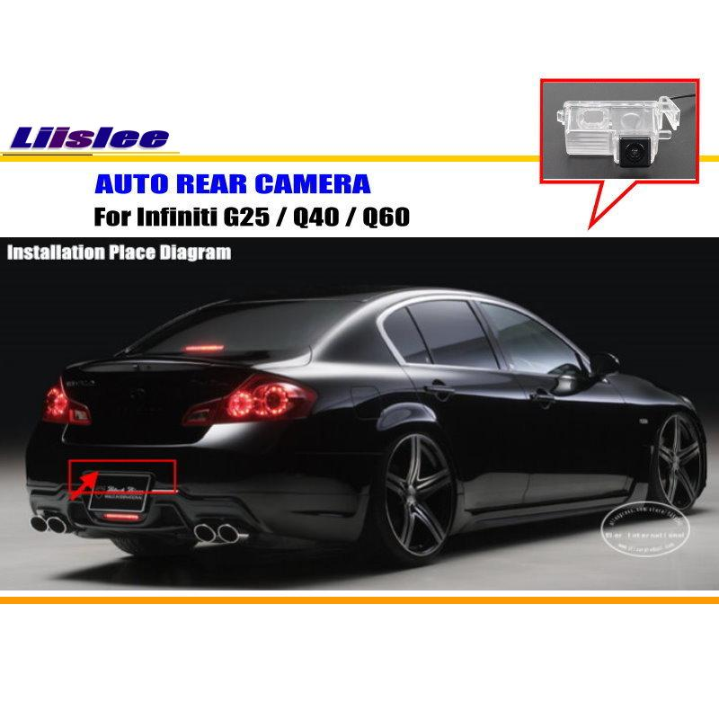 Liislee для Infiniti G25/Q40/Q60-зеркало заднего вида Камера/Резервное копирование парк Камера/HD CCD RCA NTST PAL/номерной знак света Камера