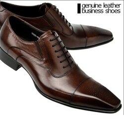 Luxus Echtes Leder Männer Formale Schuhe Spitz Top Qualität Kuh Leder Oxford Männer Kleid Schuhe Größe 38-48
