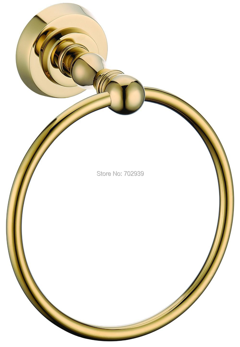 FREE SHIPPING NEW design 24k GOLD round  towel ring  D