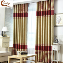 [byetee] Modern Living Room Luxury Window Curtains Striped Drapes For Kitchen Glass Doors Bedroom Blackout Embrossed Fabrics