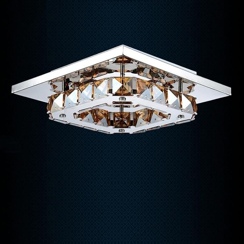 Fashion led crystal ceiling lamp flush mount ceiling lights 90-265V 12W hallway bedroom foyer light