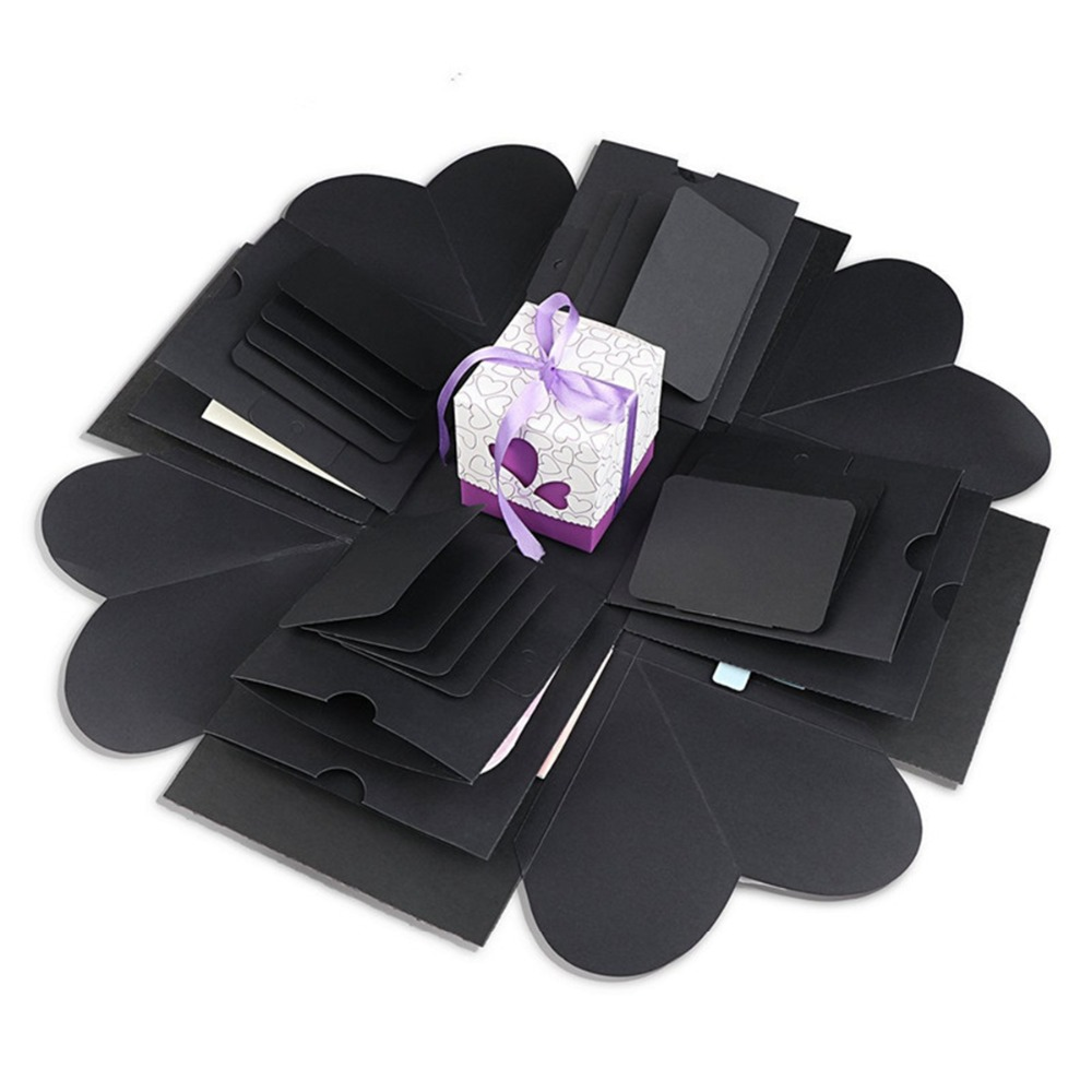 DIY sorpresa amor pantalla explosión caja hecha a mano de la caja de regalo foto álbum Scrapbooking boda cumpleaños de San Valentín fiesta Festival