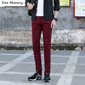 DEE MOONLY Men's Casual pants brand Men's thin long dress pants Straight Business Casual Men Pants Male Leisure Long Trousers