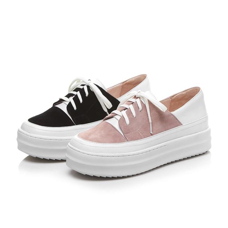 6e900455cf16f ... platform shoes fashion Leather high shoes shoes Flats flat Women   Zorssar  womens sneakers quality ...