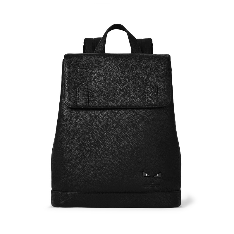 80f6716be Men's Real Genuine Leather Waterproof Large Laptop Minimalist Design High  QualityTravel Backpack School Bags Mochila Masculina-in Backpacks from  Luggage ...