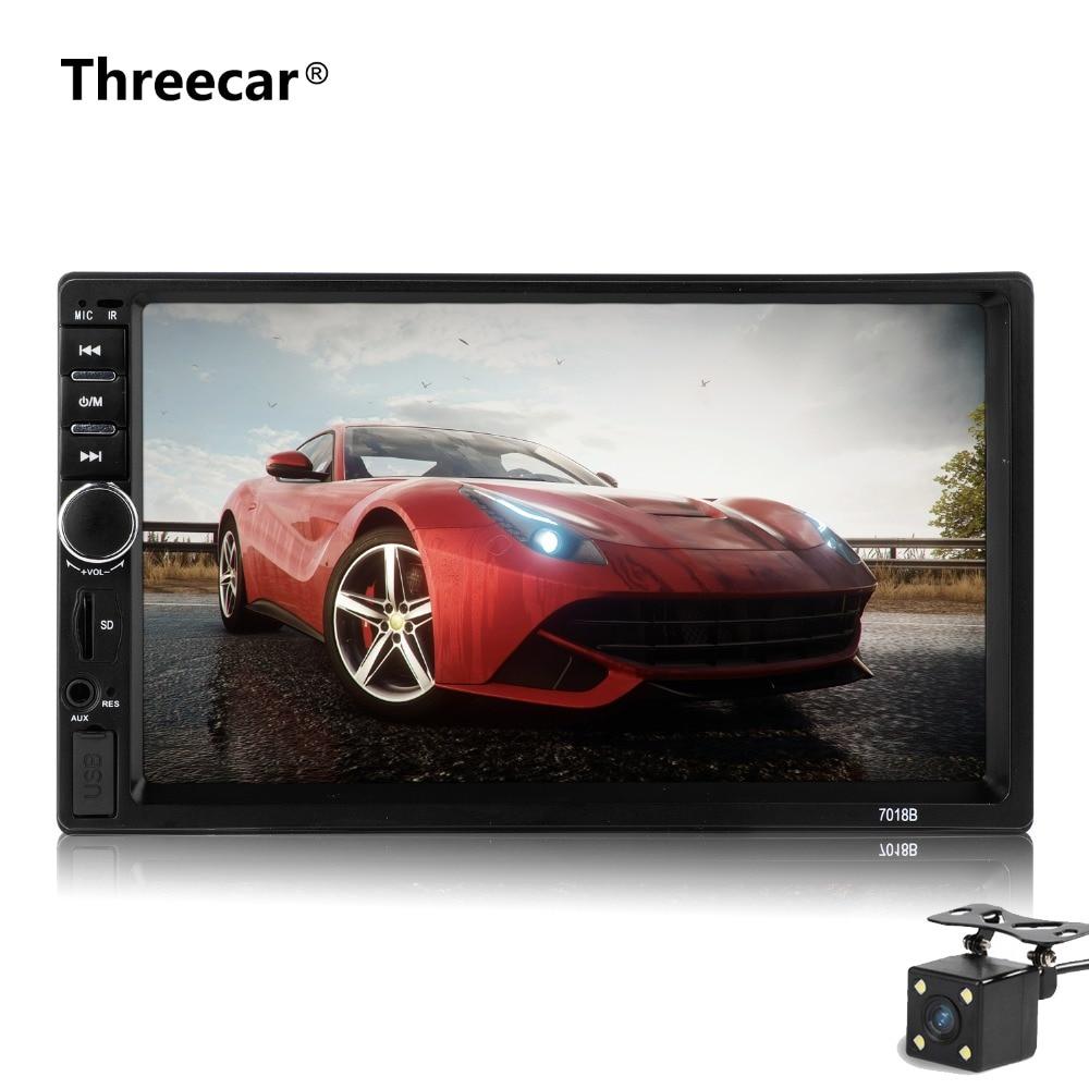 7018B Auto audio 7 Zoll 2 DIN autoradio Stereo Touch Screen auto Radio Video auto Mp5 Unterstützung Bluetooth TF USB FM kamera