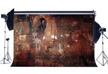 Shabby Gothic Backdrop Grunge Backdrops Graffiti Brick Peeling Blurry Gloomy Concerte Wall Photography Background