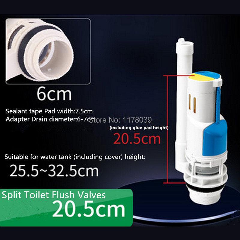 Split 20,5 Cm Wc Druckspüler Geeignet Für Split Wc J17407 Auswahlmaterialien Wassereinsparung Wc Ablassventile Wassertank Teile
